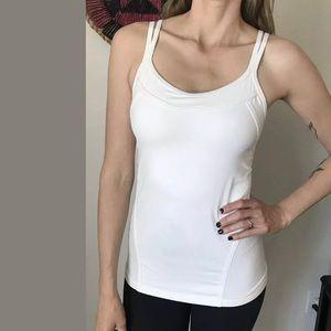 Lululemon Tank Top White Mesh Size 6?